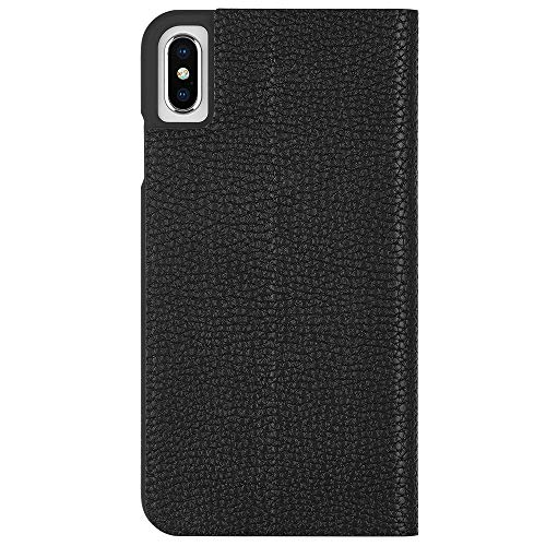 Case-Mate - iPhone XS Max Wallet Folio Case - BARELY THERE FOLIO - iPhone 6.5 - Black Folio - Black Folio Case