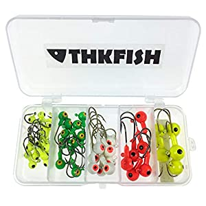 THKFISH Mixed Fishing Jig Heads for Soft Baits 44 pieces