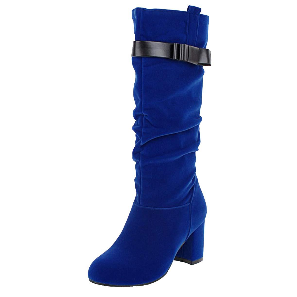 JYshoes , Bottes Bottes Souples , Femme Souples Bleu 139e3bd - reprogrammed.space