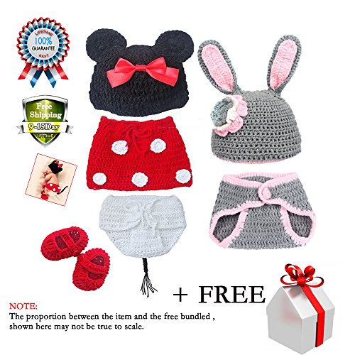 Baby Consumer Crochet Clothes Photo Prop Outfits Photography Set 2-12 Months for Boys Girls 2 Pack (Halloween Costumes Stores In Nj)