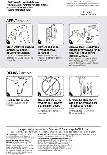 Command Large Canvas Hanger, Decorate Damage-Free, Indoor Use, 1 hanger, 2 strips (17044-ES)