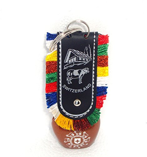 Discount4Product Beautiful Metallic Swiss Cow Bell Keychain Design]()