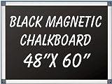 NEOPlex 48'' x 60'' Aluminum Framed Black MAGNETIC Chalkboard