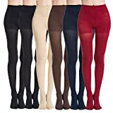 MANZI 3 Pairs Run Resistant Control Top Panty Hose Opaque Tights(Mixed Color,XL)