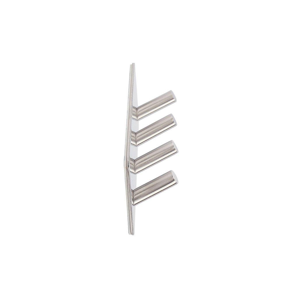 7.16X 1.85 Towel Hook ZOIC 3M Adhesive 304 Stainless Steel Hand Towel Coat Holder Hooks Rack Roll Hanger Wall Mount 4 Hooks