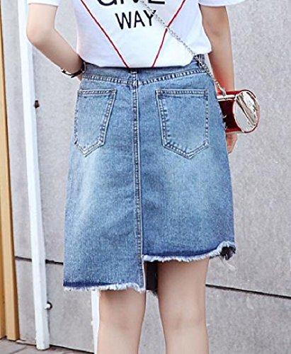 Rose Hi Embroidered Mini 1 Club Coolred Jean Dress Waist Women TnEwq77vx