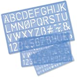 Helix 3 Piece Stencil Set / Letters Numbers and Symbols 10mm 20mm 30mm H90100