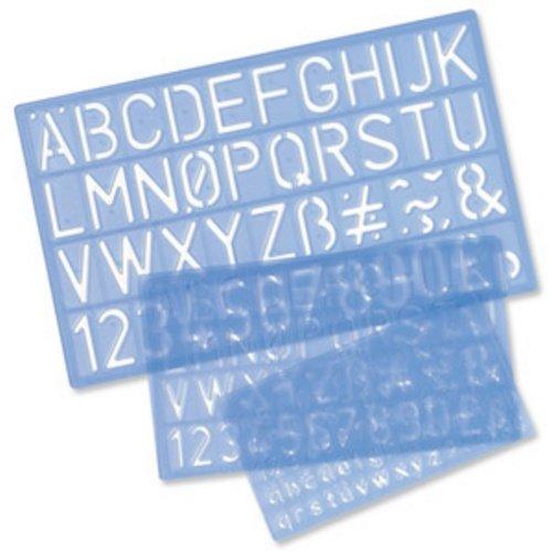 Helix H23100, stencil lettere in corsivo, 20 mm Blue OfficeCentre H90100