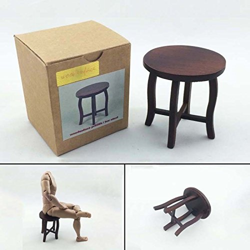 Smartchef HOT FIGURE TOY 1/6 woodenface Solid wood pr-026 small stool black