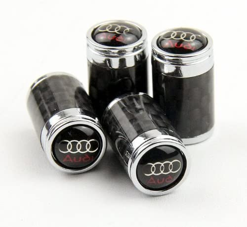 Carbon Fiber Car Air Tire Valve Caps for Audi by AED