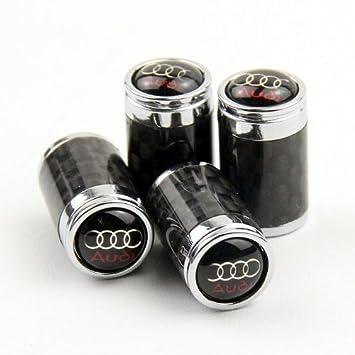 Amazoncom Carbon Fiber Car Air Tire Valve Caps For Audi By AED - Audi car tires