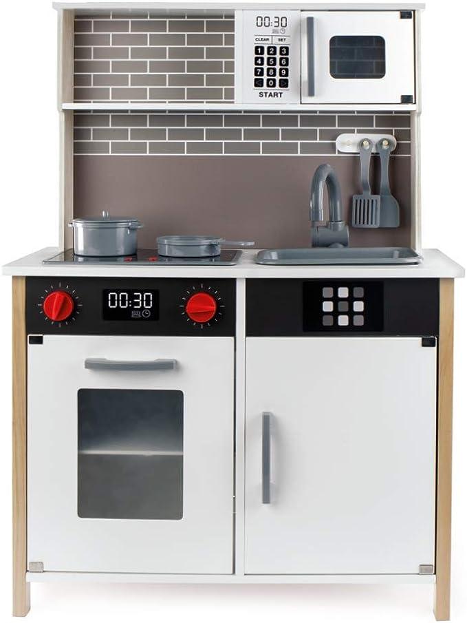 WOOMAX - Cocina de madera con accesorios, luz y sonido (ColorBaby 49026): Amazon.es: Juguetes y juegos