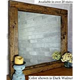 Amazon country rustic mirrors home dcor handmade products renewed dcor farmhouse mirror in 20 stain colors large wall mirror rustic modern home altavistaventures Images