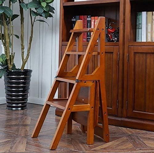LY-Escalera Pedal plegable Escaleras sólido Silla de madera Escalera Inicio multifunción Cocina Escalera del taburete del estante de almacenamiento en rack Flower Stand estantería: Amazon.es: Bricolaje y herramientas