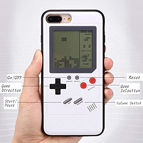 Game Phone Case, Ultra Slim Protective Playable Phone Cover Drop-proof Bump-Proof 3d with Back Screen Tetris Games Systerm For iPhone 7Plus/8Plus ...