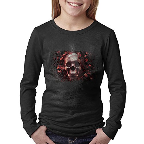 T-shirt Shot Youth (Skull & Roses Live Screenshot Unisex Youth Long Sleeve Crew Neck Shirt)