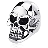 Smart Silver MENS Huge Heavy Skull 316L Stainless Steel Biker Ring US Size 7-14 LOVE STORY (13)