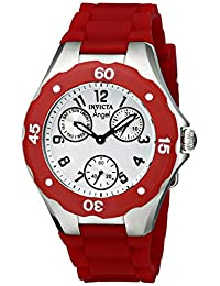 Invicta Women's 701 Angel Collection Cranberry Multi-Function Rubber Watch
