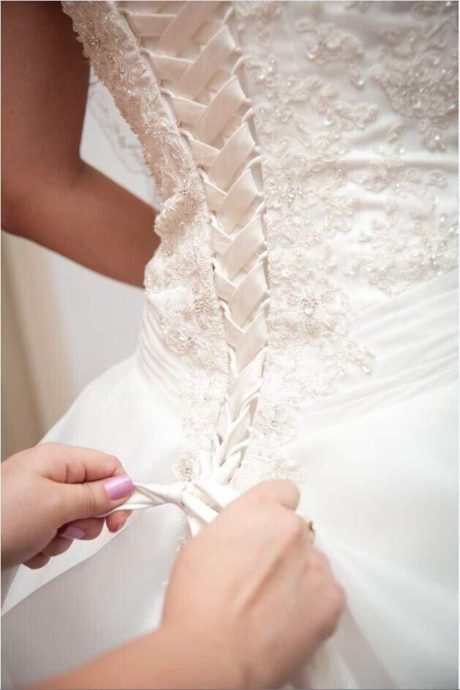b7fc5ee2f65 Amazon.com  tutu.vivi Wedding Dress Zipper Replacement Adjustable Fit  Corset Back Kit Lace Up Satin White 18    Arts