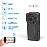 Wifi Hidden Spy Camera, Youlanda Mini Body Camera 1080P HD Monitoring Motion Detection Night Vision For Home Security Nanny Baby Pets, Suit For Outdoor Recording With Clip Design
