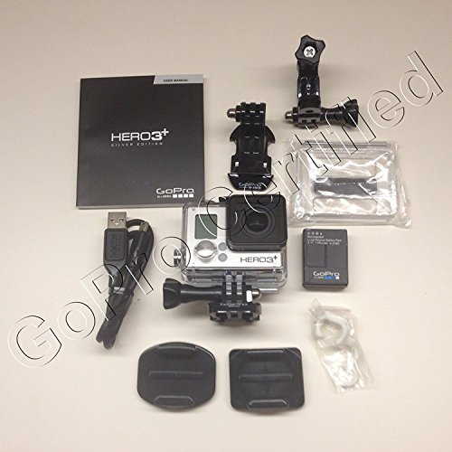 GoPro HERO3+: Silver Edition (Waterproof Built-in WiFi 10 0 MP photo 1080P video)(Certified Refurbished)