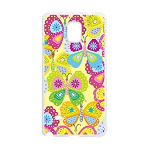 Colorful Cartoon Butterfly Phone Case for Samsung Galaxy Note4