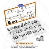 Rustark 200 Pcs Wire Thread Inserts kit 304