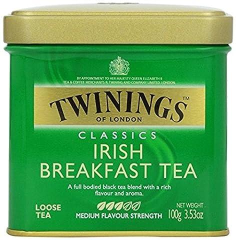 Twinings Irish Breakfast Tea, Loose Tea, 3.53 Ounce Tin - Twinings Colazione Tè