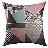 Throw Pillow Cover Beauty Geometric of Dots Circles Stylish Abstract Carpet Home Decor for Couch Sofa Decorative Pillow case 18x18 Inch