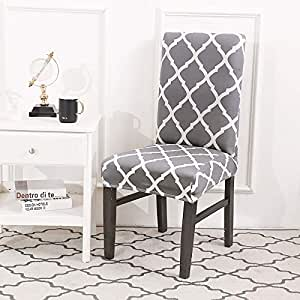 Amazon.com: Anti-Dirty Dining Chair Cover Removable Spandex Seat ...