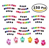 150 Pack Small Mini Flower Claw Hair Clips, Girls Beautiful Mini Flower Hair Clips Petal Hair Accessories for Girls and Women, 20 Assorted Color