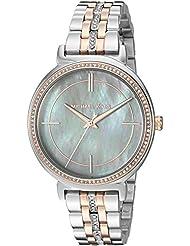 Michael Kors Womens Cinthia Silver- Tone Watch MK3642