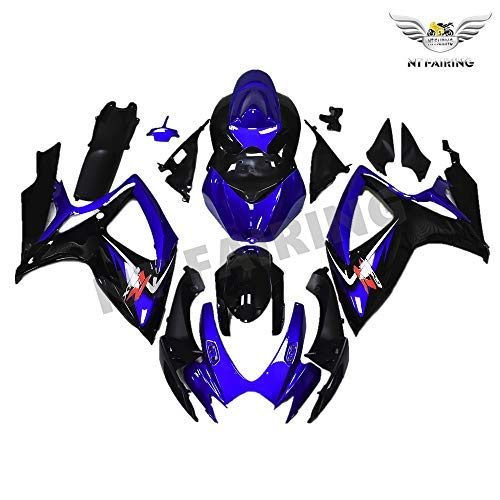 NT FAIRING Blue Black Injection Mold Fairing kits Fit for Suzuki 2006 2007 GSXR 600 750 K6 GSX-R600 Aftermarket Painted ABS Plastic Motorcycle Bodywork