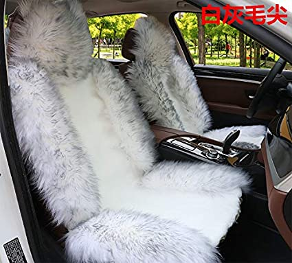 Prime Oflba Genuine Australia Sheepskin Car Seat Covers Sideless Fur Wrap Seat Cover Airbay Ready Universal Fit Warm White With Gray Tip 1Pcs White With Alphanode Cool Chair Designs And Ideas Alphanodeonline