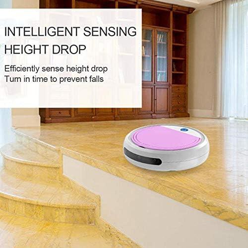 Aspirateurs intelligents Rechargeables Robot 4 en 1 3200pa USB Auto Smart Sweeping Dry Wet Mop Sweeper Aspiration Forte, Rose