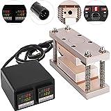 VEVOR Heat Press Kit 3X7 Inch Double Digital Display Heat Press Plates Temperature Controller Box 600W Heat Cage Kit
