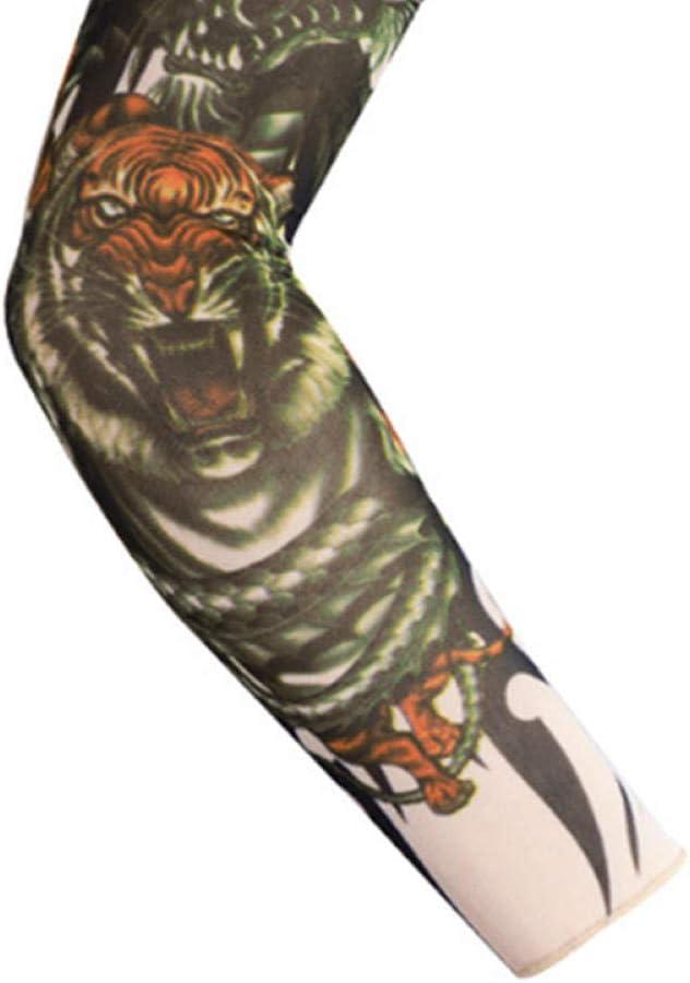 Tatuaje Brazalete Deportivo Brazo Protector Solar Guantes Manga ...