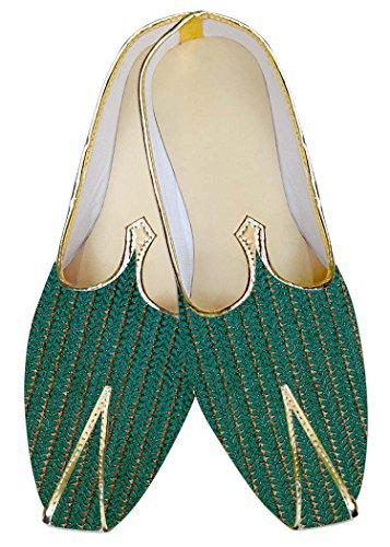 Clásico Zapatos Boda Hombres Mj011039 Cerceta Inmonarch qP76BB