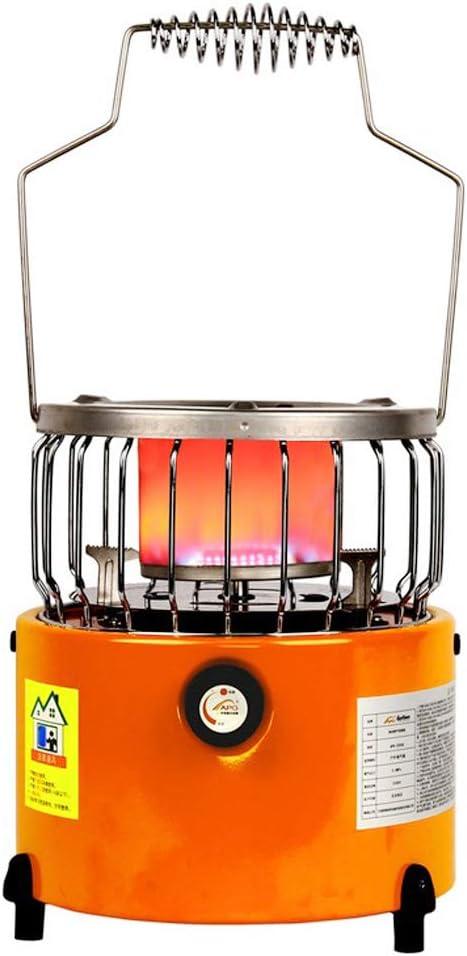 Toygogo 2 en 1 Calentador de Gas Estufa de Cocuina Parrila de Picnic Portátil para Camping Senderismo