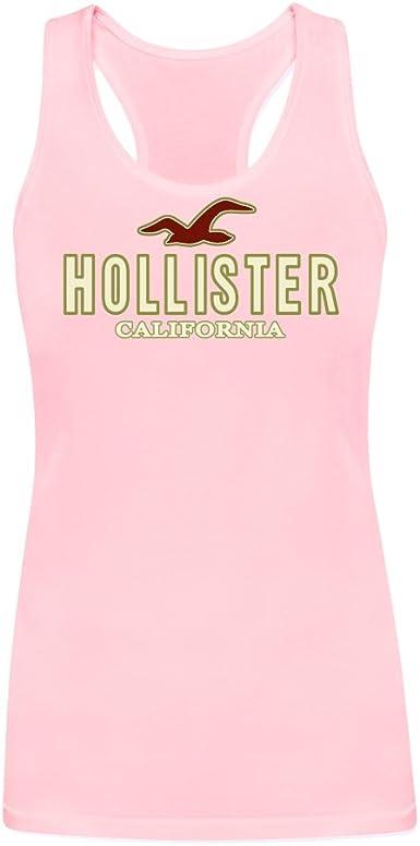 yhln DIY Hollister californla Mujer 100% algodón camiseta de tirantes: Amazon.es: Ropa y accesorios
