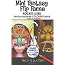 Mini Fantasy Flip Faces: Pocket-Sized Optical Illusions Coloring Book