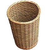 Round Hallway Umbrella Walking Stick Wicker Basket