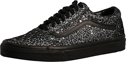 01ef842886135f Vans Old Skool Womens Size 9   Mens Size 7.5 Metallic Leopard Black  Skateboarding Shoes