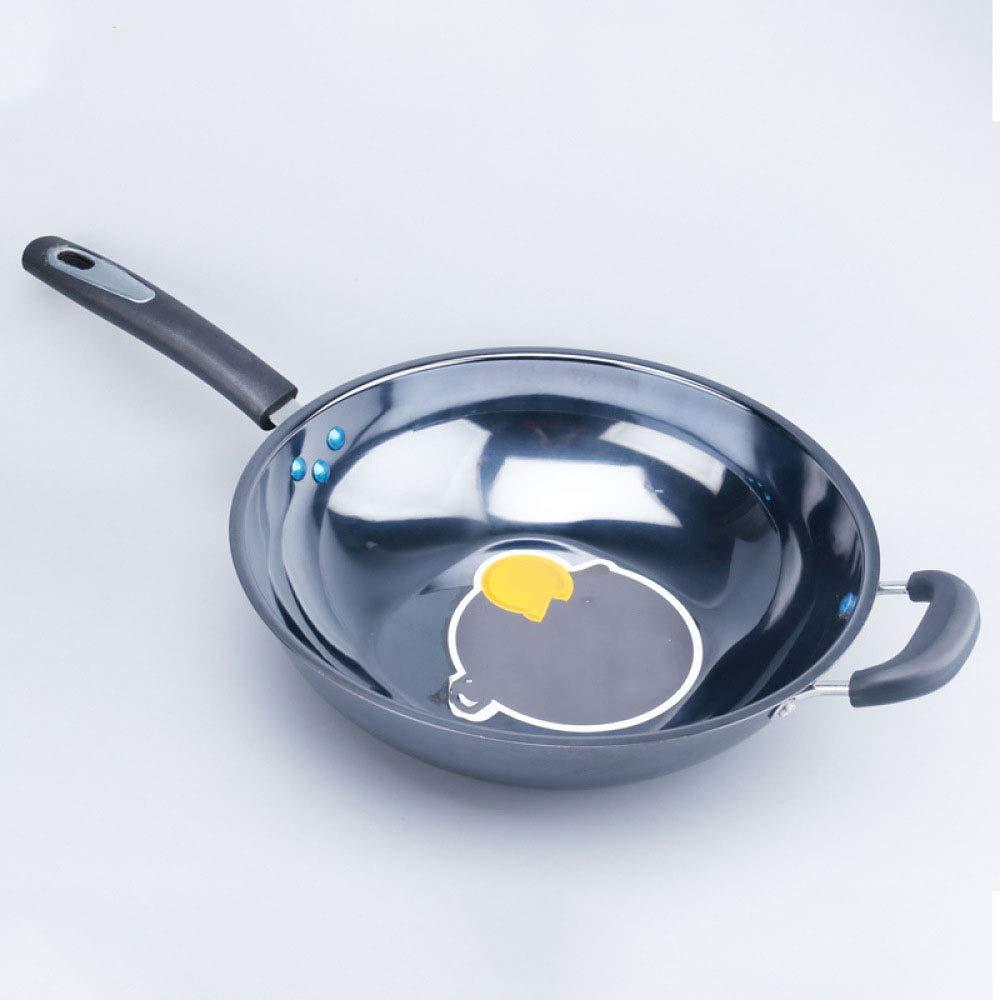 irugh Ahorro Plaza olla, sartén hogar sin recubrimiento no se oxida engrosamiento Gen de cocina de inducción no perforada ERAL: Amazon.es: Hogar