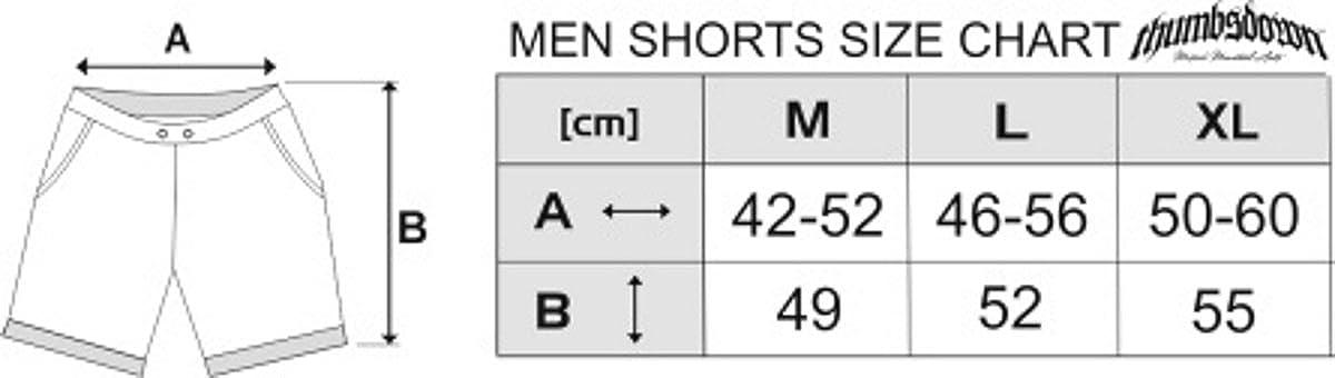 Krav Maga Shorts Cotone Colore: Grigio. Casual da Uomo Gladiator Bloodline Thumbs Down