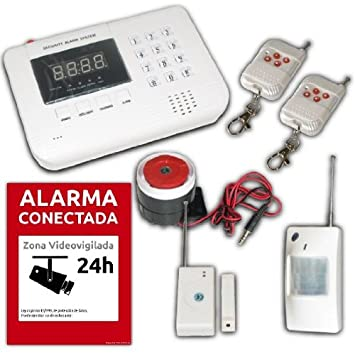ALARMA GSM INALAMBRICA CON SEGURIDAD AVISA MOVIL ANTI ROBO ...
