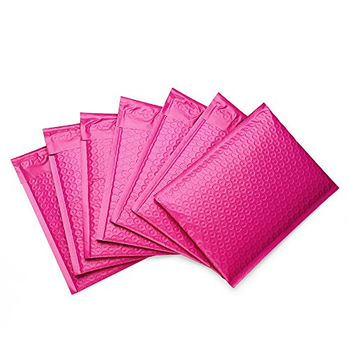 Metronic Bubble Mailers 6x10 inch #0 Poly Padded Envelope Mailers Upgrade Opaque Self Seal Shipping Envelopes 50 Pack Pink
