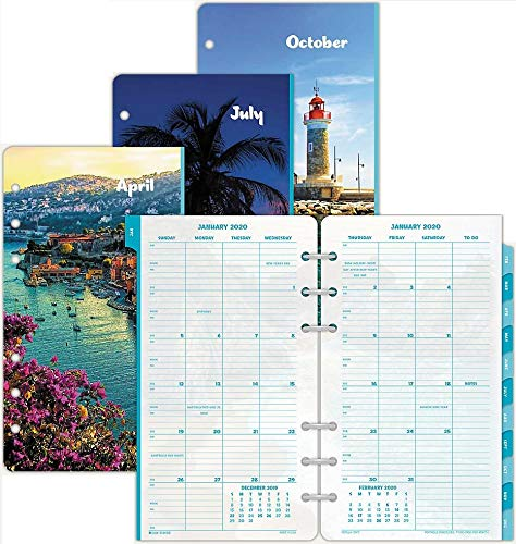 (Day-Timer 2020 Monthly Planner Refill, Two Pages Per Month, 3-3/4