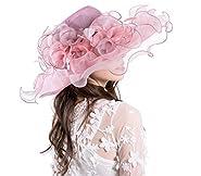 Seven Flowers Kentucky Derby Hat Women Church Wedding Party Hats