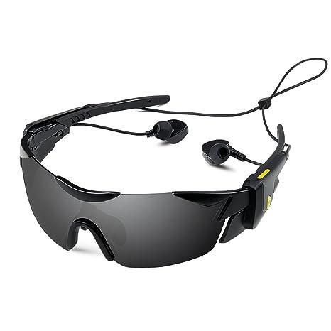 6ec7190550d95 Ewin 3 in 1 Bluetooth Sunglasses Detachable Headphones Polarized Sports  Glasses Hands Free Calling for Men